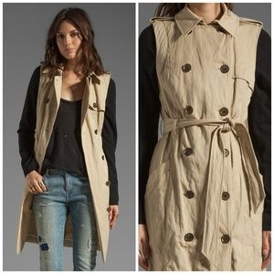 Gryphon Knit detachable Sleeve trench